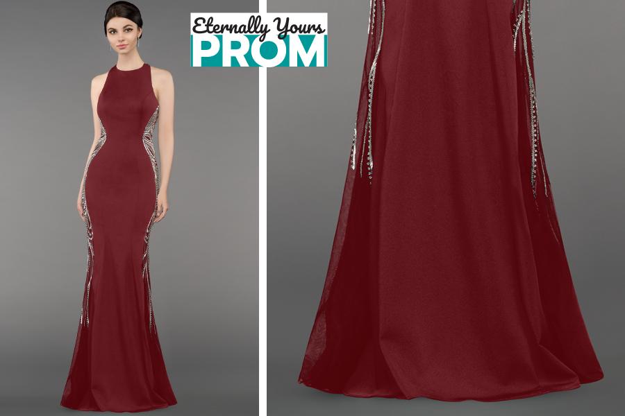 Gino Cerruti Burgundy Prom Dress | Gino Cerruti Pom Dress Shop Near ...