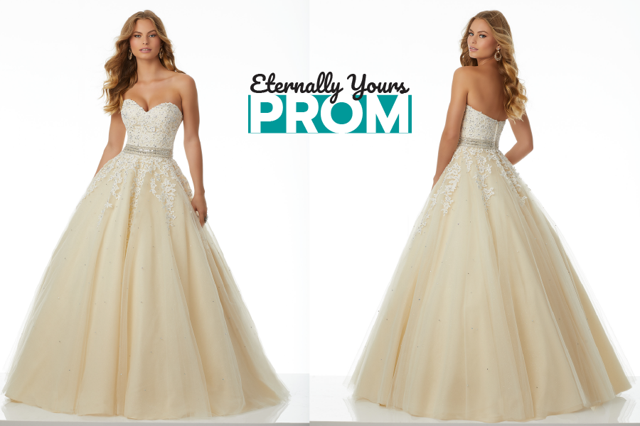 Morilee Cream Prom Dress | Strapless Morilee Prom Dress | Elegant ...